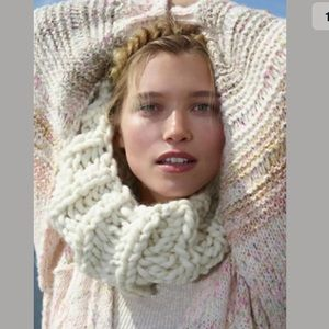New Free People Loopy Mango Cleopatra Cowl Scarf